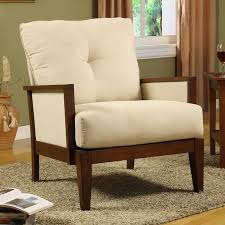 Microfiber Accent Chair Caney Beige Microfiber Accent Chair 12111213 Overstock Beige