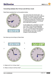 collection of solutions 12 to 24 hour time worksheets in template