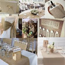 shabby chic table runner 9m 30cm hessian table runners sew edge wedding decoration vintage