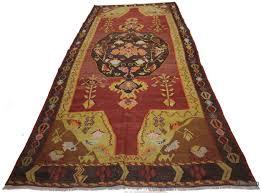 Sari Rug K0020936 Red Vintage Karabakh Kilim Rug Kilim Rugs Overdyed