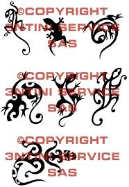7 x tattoo flashes tribal geckos download tattoo