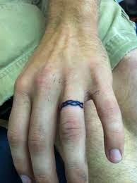 Christian Ring Tattoos 76 Of The Most Inventive Wedding Band Designs
