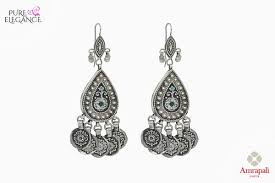 buy earrings online buy silver pear shaped jhumka earrings online in usa from amrapali