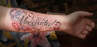 Lettering Arm - vertigo gallery tattoos part arm undefeated lettering
