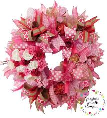 valentines day wreath pink wreath s day s day for