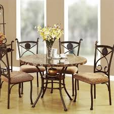5 pc dining table set acme furniture kleef 5 piece dining set in brown 70555 70556 kit