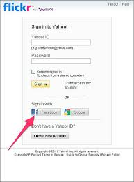 Fb Login Login To Flickr With Your Account Flickr