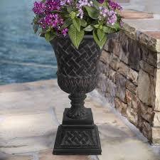 Outdoor Vase Garden Flower Pot Pedestal Urn Planter Home Outdoor Patio Decor
