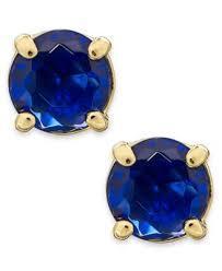 royal blue earrings kate spade new york gold tone royal blue stud earrings