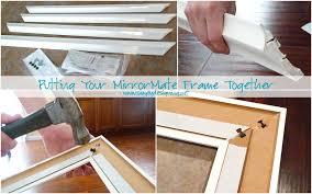 installing bathroom mirror frames