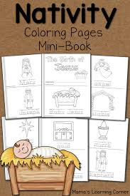 birth of jesus coloring page nativity coloring pages mamas learning corner
