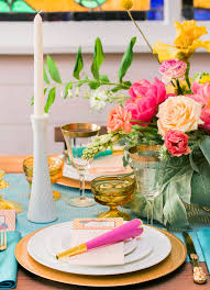 Gold Sequin Linen Rental Los Angeles Colorful Retro Wedding Inspiration At The Ruby Street In Los