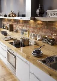 Faux Brick Kitchen Backsplash by Faux Stone Backsplash Brick Flooring And Faux Brick Backsplash In