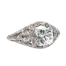 mine cut engagement ring vintage mine cut engagement ring