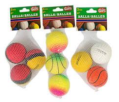 bulk colorful rubber balls 3 ct packs at dollartree