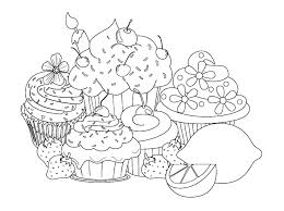 cupcake coloring pages free to print coloringstar