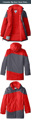 columbia big boys snow stoked jacket bright red x large cool