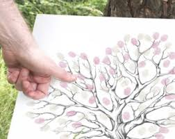 Wedding Tree Thumbprint Tree Etsy