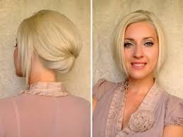 how to fix chin length hair short hair updo for work office job interview elegant hairstyle