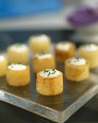 recette de cuisine pomme de terre cylindres de pommes de terre farcis à la crème et ciboulette