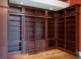 Living Room Bookcases by Hand Crafted Library Bookcases With Ladder By Odhner U0026 Odhner Fine