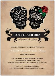 day of the dead wedding day of the dead skulls wedding invitation