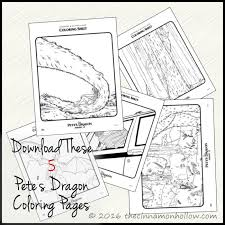 download cute pete u0027s dragon coloring sheets