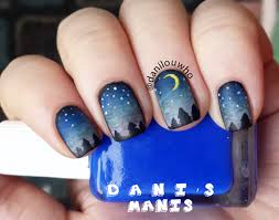 night sky gradient nail art dani u0027s manis