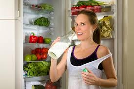 cuisine pour sportif lait boisson sportif de femme pour la nutrition saine dans la