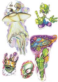 alien ufo tattoo design photos pictures and sketches tattoo