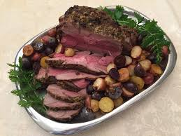 color my food rosemary roasted leg of lamb with tri color potatoes