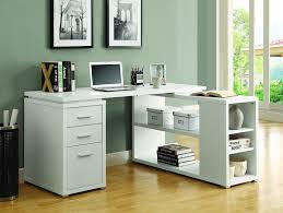 Corner L Desk White Corner L Shaped Office Desk With Drawers Shelving Open