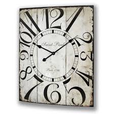 shabby chic wood clock who doesn u0027t need a square clock never