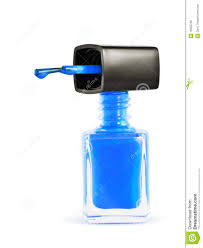bottle of blue nail polish royalty free stock image image 16335736
