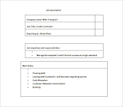 controller job description template u2013 11 free word pdf