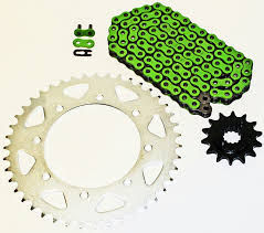 amazon com kawasaki kl650 klr650 650 green chain and sprocket 14