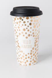 hello beautiful gold travel mug francesca u0027s