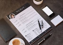 free professional resume cv design template with cover letter