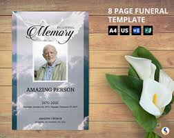 funeral booklets etsy