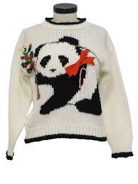panda sweater cozy ideas panda sweater chritsmas decor