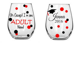 Graduation Wine Glasses It U0027s About To Get Real Graduation Wine Glass Stemless