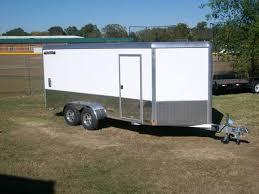 enclosed trailer led lights all aluminum aluma ae716m motorcycle enclosed trailer torsion axles