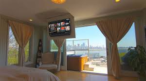Drop Down Tv From Ceiling by Tv Unit Design Custom Floor Ceiling Tv Unit Designs Nexus 21