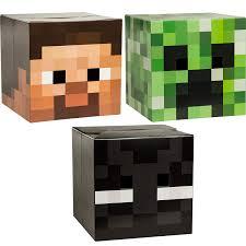 Minecraft Skeleton Halloween Costume by Amazon Com Minecraft Head Costume Mask Set Steve Creeper