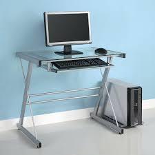Futuristic Computer Desk Mini Glass Computer Desk Desk Ideas