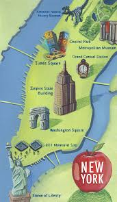 map of new york city with tourist attractions maps update 58022775 new york city map with tourist attractions