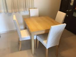 retractable dining table ghost chair ikea ikea gamleby chair easy to move thanks to the