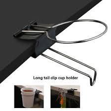 Table Cup Holder Home Office Use Drink Coffee Cup Holder Clip Desk Table Handbag