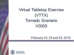 Table Top Exercise by Virtual Tabletop Exercise Vttx Tornado Scenario V Ppt Video