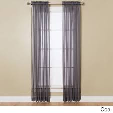84 Inch Curtains Miller Curtains 84 Inch Sheer Curtain Panel With Rod